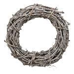 Kranz Willow, grau, Rattan, 40x9 cm