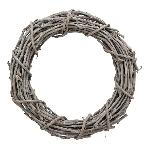 Kranz Willow, grau, Rattan, 50x11 cm
