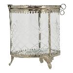Bonboniere Iride, Glas/Metall, 11x11x14 cm