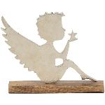 Engel Puri, Holz/Aluminium, 26x22x4,5 cm
