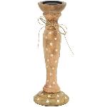 KerzenHalter Bloom, Holz, 15x15x30 cm