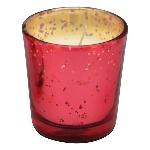 WindLicht mit Kerze Vitreous, Glas/Wachs, 6x6x6 cm