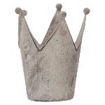 Krone ArtFerro, grau, Metall, 11x10x13,5 cm