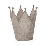 Krone ArtFrero, grau, Metall, 16x14 x18 cm