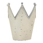 Krone ArtFerro, weiß, Metall, 16x14x18 cm