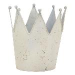 Krone ArtFerro, weiß, Metall, 20x20x23 cm