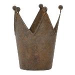 Krone ArtFerro, rusty, Metall, 11x10x13,5 cm