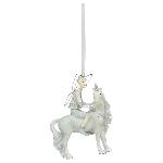 EinhornHänger Lilian, Weiß, Polyresin, 9x9x11 cm