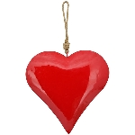 HerzHänger EnameL, rot, Metall, 30x6x30cm