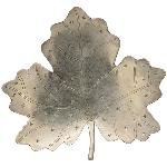 Blatt Iride, Metall, 20,5x4x19,5 cm