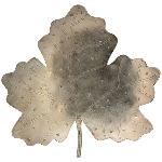 Blatt Iride, Metall, 25,5x6x24 cm