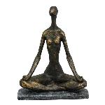 Frauenskulptur Yoga HILDA, polyresin, 21,5x13x26,2cm