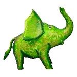 SparDose Elefant Kanu, Metall, 20x11x16 cm