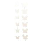 SchmetterlingKette PaperART, weiß, Papier, 150 cm