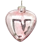 HerzHänger Vitreous, pink, Glas, 15x3x16 cm