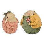 Mann und Frau, Hilda, Polyresin, 11,5x12,1x13 cm