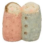 Paar CrivA, Polyresin, 14x7,6x13,3 cm