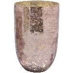 WindLicht Vitreous, rosa, Glas, 18x18x27 cm