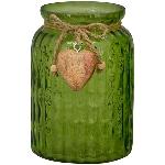 Vase VERT, grün, Glas, 12x12x17 cm
