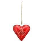 HerzHänger Dost, rot, Metalll, 25x5x24 cm