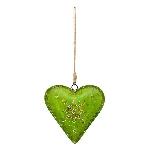 HerzHänger Dost, grün, Metalll, 25x5x24 cm