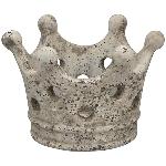 KronenWindLicht Valo, creme/weiß, Zement, 16,5x14,5x11,5 cm