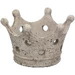 KronenWindLicht Valo, creme/weiß, Zement, 21,5x19x13,5 cm