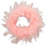 Kranz FedeR, rosa, Feder/Schaum, 15 cm