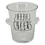 SektKühler VIN, Glas, 18,5x18,5x21,5 cm