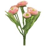 Bellis bush  ArtificialNature,  pink, 20 cm