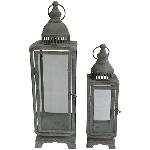 LaterneSets/2 ArtFerro, Metall/Glas, 15,5x15,5x53 cm,11x11x39 cm