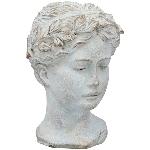 FrauenBüste Valo, creme/white, Cement, 16x15x23 cm