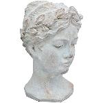 FrauenBüste Valo, Cement, 18,5x17,5x28 cm