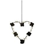 HerzHänger GlinT, schwarz, Metall, 17x15x2 cm