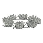 KerzenHalter Junker, zinc, Metall, 41x7x41 cm