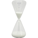Sanduhr, Glas, 7x7x18 cm