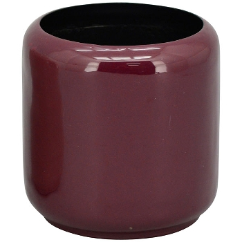 Topf EnameL, dunkelrot, Metall, 11,5x11,5x12 cm