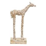 Skulptur Artisanal, Aluminium/Holz, 21,5x8x36 cm