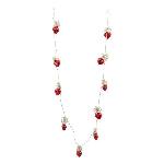 Herzkette Iride, rot, Glas/Metall, 110 cm