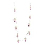 Herzkette Iride, pink, Glas/Metall, 110 cm