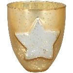 WindLicht Vitreous, champagne, Glas, 13x13x15 cm