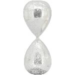 Sanduhr, silber, Glas, 13x13x32 cm