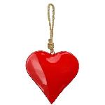 HerzHänger EnameL, rot, Metall, 15x4x15 cm