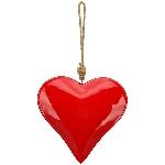 HerzHänger EnameL, rot, Metall, 20x4x20 cm