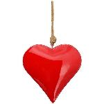 HerzHänger EnameL, rot, Metall, 25x4x25 cm