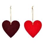 HerzHänger SAMT, rot, 9x9x0,6 cm
