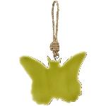SchmetterlingHänger EnameL, grün, Holz, 10x9x1 cm