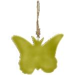 SchmetterlingHänger EnameL, grün, Holz, 15x11x1 cm