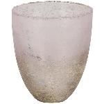 WindLicht VIN, pink, Glas, 13x13x15 cm