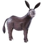 Esel Kanu, Metall, 31x18x36 cm